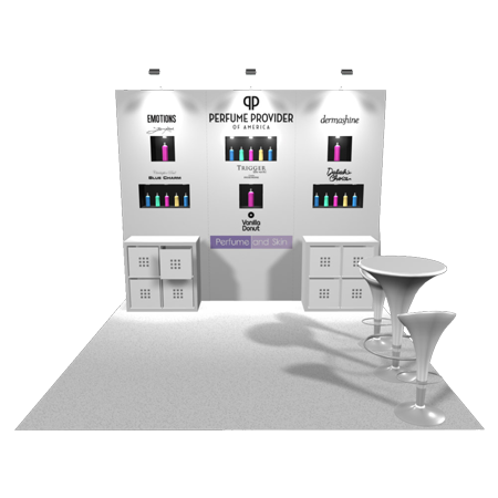 10 x 10 Inline Trade Show Booth Rentals