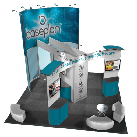 20 x 20 Island Trade Show Booth Rentals
