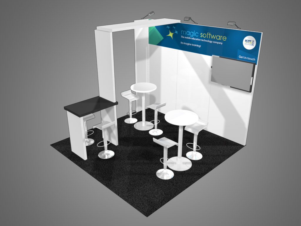 10x10 Trade Show Booth Design Berkeley Exhibit
