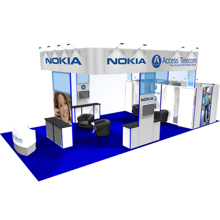 Large Island Trade Show Booth Rentals